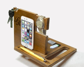 Docking Station, iPhone Docking Station, iphone charging, Gift for Men, iphone organizer,  iPhone dock