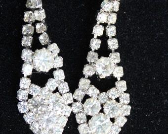 Vintage Rhinestone Chandelier Wedding Earrings