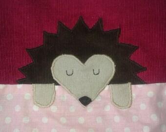 African hedgehog snuggle sack PINK