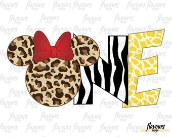 One Minnie Animal Kingdom - INSTANT DOWNLOAD - Disney Animal Kingdom Iron On Transfer - DIY Disney Shirts - Digital Files