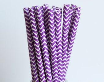 Purple Chevron Cakepop stick
