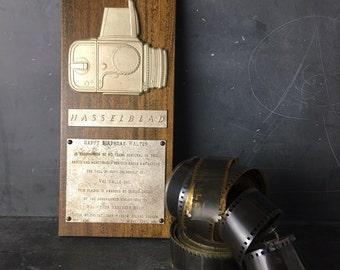 Hasselblad award plaque