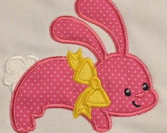 """Easter applique """"Bunny with Bow"""""""
