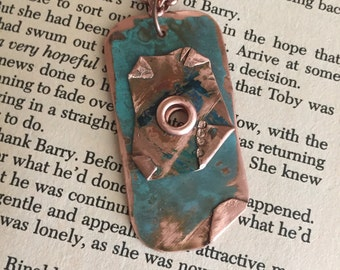 Abstract Copper Pendant - 2