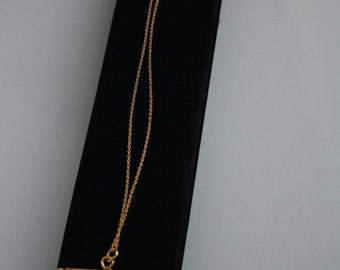 Gold plated copper bar necklace
