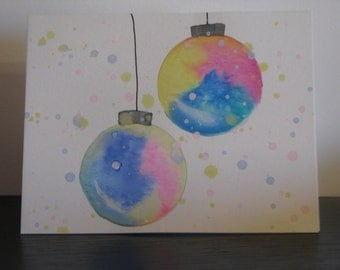 Tie-dye Ornaments Christmas Card