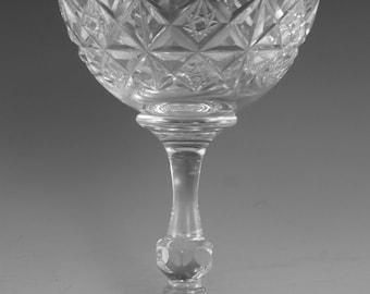 "TUDOR Crystal - MRUK39 Cut - Champagne Saucer Glass / Glasses - 4 5/8"""