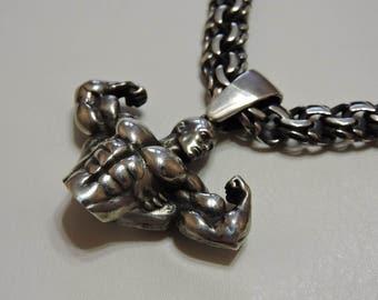 Pendant Bodybuilder Silver 925 Gift