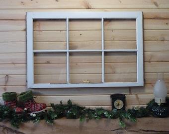 "Vintage window sash (1950's) 23'x36"""
