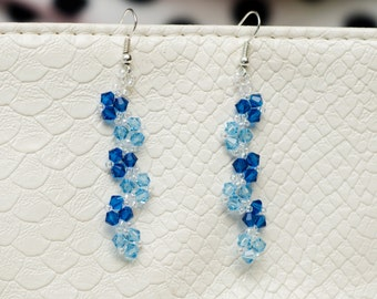 Earrings with Swarovski stones and beads