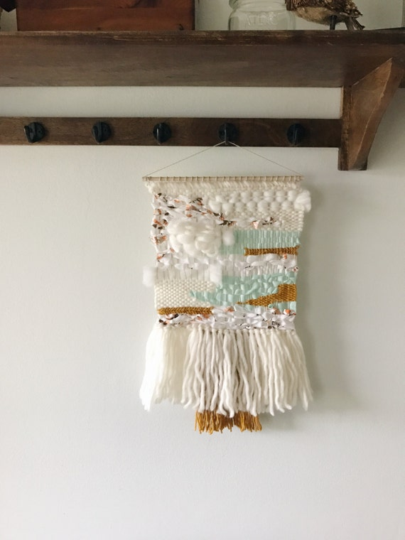 Woven Leaves Wall Decor : Woven wall hanging vintage art home decor