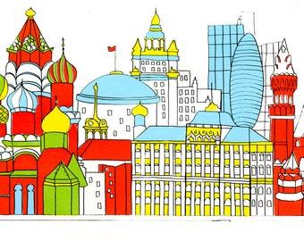 Moscow Silkscreen Print