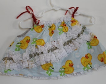 Ducks and Frogs Baby Girl Dress or Top