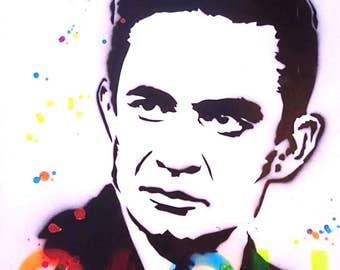 Original  - Johnny Cash Graffiti Stencil