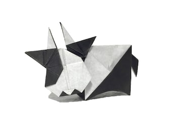 Instruction-origami Cow (diagrams)