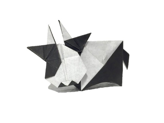 instructionorigami cow diagrams from origamity on etsy