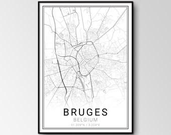 Bruges city map