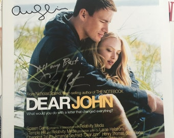Dear John signed 8x12 by Amanda Seyfried and Channing Tatum