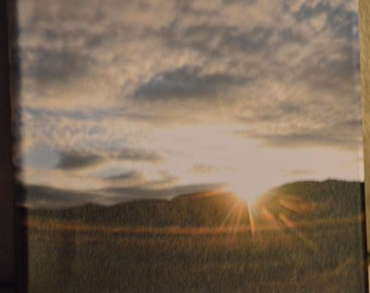 8x8 Mountain Sunset photo canvas print