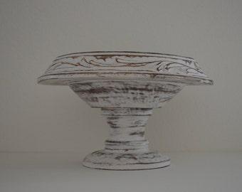 Primitive Mango Bowl, Hand carved Wood Bowl,  Decorative Wooden Bowl