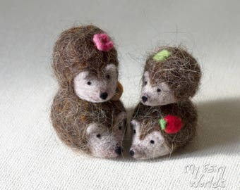 Needle Felted Hedgehog. Nature Table. Fairy Woodland. Waldorf Inspired