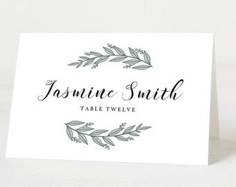Editable Wedding Place Cards Template Printable Place Cards Wedding Name Cards Wedding Printables Wedding Seating Cards PDF Instant Download