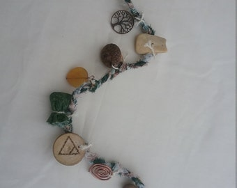 Earth element witch's ladder, handmade