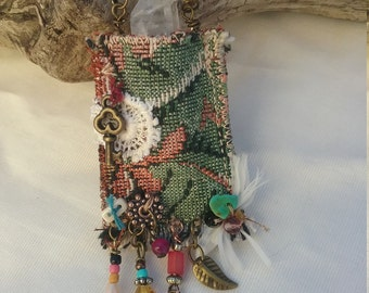 Crystal pouch, amulet bag, talisman pouch, handmade