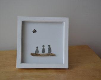 Pebble and Driftwood art