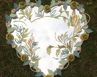 Heart shaped painted mirror