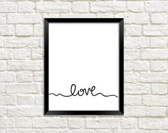Love Art Print    Wall Art Decor    Digital Download