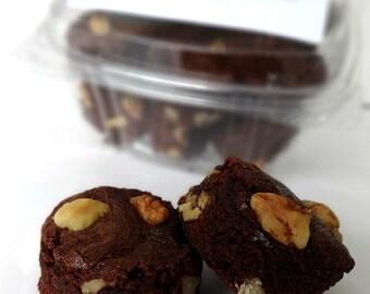 Mini Brownie Bites - Walnut Chocolate Chunk Fudge Brownie, Chocolate Fudge