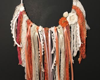 Coral and Pink Dream Catcher (no web)