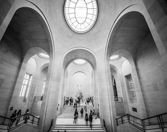 Louvre, Paris Architecture, French Home Decor, Paris Print, Fine Art Photography, Paris Photography, Louvre Museum, Paris Wall Art