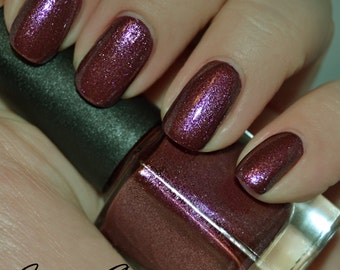 Eye Candy - Purple Pink with blue, violet and silver shimmer Nail Polish