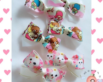 Suoer cute bow hair clips