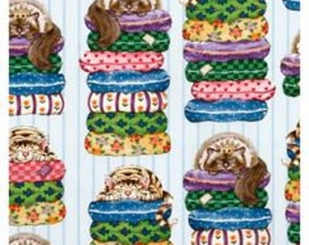 Cotton Fabric Quilting Cat Pillows - Colors