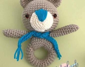 Handmade Crochet Baby Bear Rattle