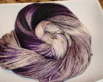 SOFTY MERINO Dk yarn, Superwash Merino, EXPLOSION Series, Color - Midnight Explosion Purple, 231 yds