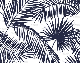 Palm Leaves Silhouette Fabric by OJardin