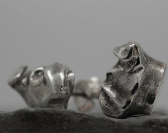 Vakkancs English Bulldog earrings (solid sterling silver)