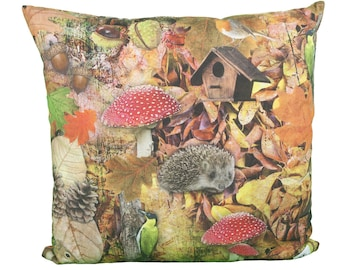Pillow square autumn forest