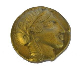 Goddess Athena desk press papier bronze paperweight of Pallas