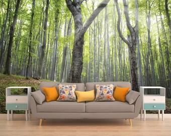 Tree Wall Mural, Tree Wallpaper, Nature Wall Mural, Nature Wallpaper, Forest Wall Covering, Forest Wall Mural, Forest Wallpaper, Forest