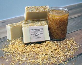 Handmade Calendul-Ahh Body Soap | Calendula Soap | Moisturizing Soap | Healing | Gentle Soap
