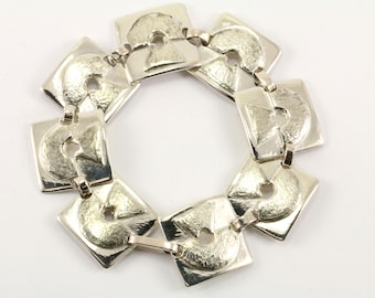 Vintage Davide Square Links Bracelet 800 SIlver BR 213-E