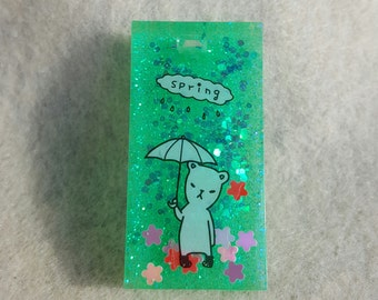 April Showers Resin Charm