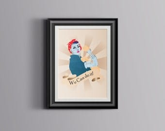 Robot Rosie the Riveter