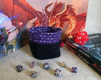 The Ranger - Purple and Black - Large Dice Bag