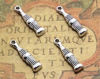20pcs Soda bottle Charms silver tone Soda bottle charm pendants 25x5x5mm ASD1877
